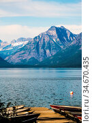 Lake McDonald Glacier National Park. Стоковое фото, фотограф Zoonar.com/Alex Grichenko / age Fotostock / Фотобанк Лори