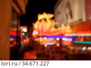Las vegas city streets and lights bokeh defocused effect. Стоковое фото, фотограф Zoonar.com/Alex Grichenko / age Fotostock / Фотобанк Лори