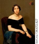 Flandrin Hippolyte - Madame Louis Antoine De Cambourg - French School... Редакционное фото, фотограф Artepics / age Fotostock / Фотобанк Лори