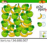 Illustration of Educational Counting Task for Children with Apples... Стоковое фото, фотограф Zoonar.com/Igor Zakowski / easy Fotostock / Фотобанк Лори