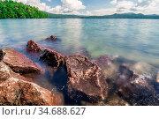 Beautiful landscape scenes at lake jocassee south carolina. Стоковое фото, фотограф Zoonar.com/Alex Grichenko / age Fotostock / Фотобанк Лори