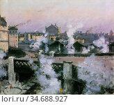 Goeneutte Norbert - the Pont De L'europe and Gare Saint Lazare - ... Стоковое фото, фотограф Artepics / age Fotostock / Фотобанк Лори