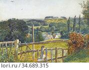 Stocks Walter Fryer - the Stile - British School - 19th Century. Стоковое фото, фотограф Artepics / age Fotostock / Фотобанк Лори