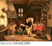 Webb Charles Meer - the Alchemist - British School - 19th Century. Редакционное фото, фотограф Artepics / age Fotostock / Фотобанк Лори