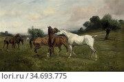 Wright George - Spring Fever - British School - 19th Century. Редакционное фото, фотограф Artepics / age Fotostock / Фотобанк Лори