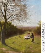 Hayllar James - Wallingford from Grim's Dyke Oxfordshire - British... Редакционное фото, фотограф Artepics / age Fotostock / Фотобанк Лори