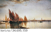 Haseltine William Stanley - Venice - British School - 19th Century. Редакционное фото, фотограф Artepics / age Fotostock / Фотобанк Лори