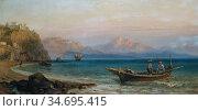Hering George Edwards - the Gulf of Palermo Italy - British School... Редакционное фото, фотограф Artepics / age Fotostock / Фотобанк Лори