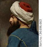 Lefebvre Jules Joseph - Portrait of an Ottoman - French School - ... Редакционное фото, фотограф Artepics / age Fotostock / Фотобанк Лори