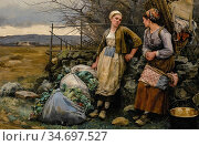 Knight Daniel Ridgway - a Halt - French School - 19th Century. Редакционное фото, фотограф Artepics / age Fotostock / Фотобанк Лори