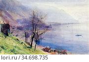 Inchbold John William - View Above Montreux - British School - 19th... Редакционное фото, фотограф Artepics / age Fotostock / Фотобанк Лори
