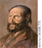 John Augustus - Old Ryan - British School - 19th Century. Редакционное фото, фотограф Artepics / age Fotostock / Фотобанк Лори