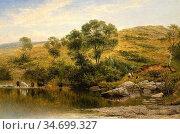 Leader Benjamin Williams - a Quiet Pool on the River Llugwy near ... Редакционное фото, фотограф Artepics / age Fotostock / Фотобанк Лори