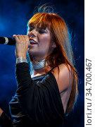 Певица Анастасия Стоцкая на концерте. (2007 год). Редакционное фото, фотограф Андрей Дегтярёв / Фотобанк Лори