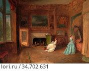 Holland James - the Lady Betty Germain Bedroom at Knole Kent - British... Редакционное фото, фотограф Artepics / age Fotostock / Фотобанк Лори