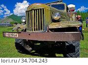 BURYATIA, RUSSIA - August 11, 2012: Old Russian truck ZIL-157. Стоковое фото, фотограф Zoonar.com/Sergey Rybin / age Fotostock / Фотобанк Лори