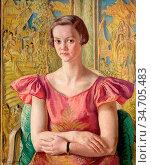 Knight Dame Laura - Miss Patricia Thompson - British School - 19th... Редакционное фото, фотограф Artepics / age Fotostock / Фотобанк Лори