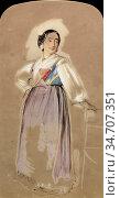 Lewis John Frederick - a Spanish Woman - British School - 19th Century... Редакционное фото, фотограф Artepics / age Fotostock / Фотобанк Лори