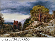 Linnell John - the Prophet Balaam and the Angel - British School - ... Редакционное фото, фотограф Artepics / age Fotostock / Фотобанк Лори