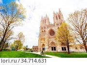 Washington National Episcopal Cathedral Protestant (2018 год). Стоковое фото, фотограф Сергей Новиков / Фотобанк Лори