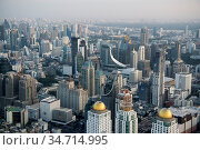 The view from the Baiyoke sky Hotel in the city of Bangkok in Thailand... Стоковое фото, фотограф Zoonar.com/URS FLUEELER / age Fotostock / Фотобанк Лори