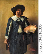 Herbo Leon - Self Portrait of the Artist Wearing a 17th Century Style... Редакционное фото, фотограф Artepics / age Fotostock / Фотобанк Лори