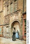 Monziès Louis - Grand' Rue - La Maison Dite D 'adam Et Eve - French... Стоковое фото, фотограф Artepics / age Fotostock / Фотобанк Лори
