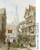 Rayner Louise - Minster Street Salisbury - British School - 19th ... Редакционное фото, фотограф Artepics / age Fotostock / Фотобанк Лори