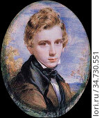 Richmond George - Self Portrait 1 - British School - 19th Century. Редакционное фото, фотограф Artepics / age Fotostock / Фотобанк Лори
