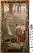 Puvis De Chavannes Pierre - L 'enfance De Sainte Geneviève 1- En ... Стоковое фото, фотограф Artepics / age Fotostock / Фотобанк Лори