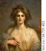 Roberts Ellis William - Portrait of Lady Beatrice Butler - British... Редакционное фото, фотограф Artepics / age Fotostock / Фотобанк Лори