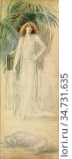 Robertson Walford Graham - Portrait of Sarah Bernhardt 2 - British... Редакционное фото, фотограф Artepics / age Fotostock / Фотобанк Лори