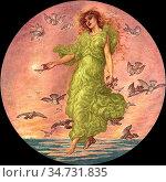 Rooke Thomas Matthews - Aphrodite - British School - 19th Century. Редакционное фото, фотограф Artepics / age Fotostock / Фотобанк Лори