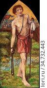 Rossetti Dante Gabriel - David - British School - 19th Century. Редакционное фото, фотограф Artepics / age Fotostock / Фотобанк Лори