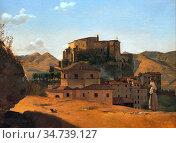 Bodinier Guillaume - Vue De Subiaco - French School - 19th Century. Стоковое фото, фотограф Artepics / age Fotostock / Фотобанк Лори