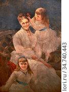 Sidley Samuel - Family Group - British School - 19th Century. Редакционное фото, фотограф Artepics / age Fotostock / Фотобанк Лори