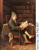 Webb Charles Meer - Interior with Reading Man - British School - ... Редакционное фото, фотограф Artepics / age Fotostock / Фотобанк Лори