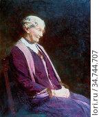 Williams Christopher - Mrs Parry Jones - British School - 19th Century... Редакционное фото, фотограф Artepics / age Fotostock / Фотобанк Лори