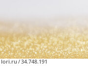 Abstract golden glitter background. Стоковое фото, фотограф Иван Михайлов / Фотобанк Лори