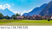 Old City of Interlaken, Switzerland (2019 год). Стоковое фото, фотограф Коваленкова Ольга / Фотобанк Лори