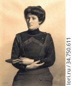 Khnopff Fernand - Portrait Présumé De Madame Jules Ricard Née Augustine... Стоковое фото, фотограф Artepics / age Fotostock / Фотобанк Лори