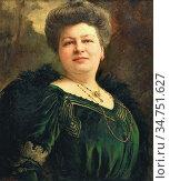 Simons Frans Jan - Damesportret - Belgian School - 19th Century. Стоковое фото, фотограф Artepics / age Fotostock / Фотобанк Лори