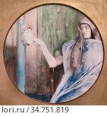 Khnopff Fernand - Het Geheim 2 - Belgian School - 19th Century. Стоковое фото, фотограф Artepics / age Fotostock / Фотобанк Лори