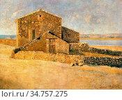 Maillol Aristide - Maison En Roussillon - French School - 19th and... Редакционное фото, фотограф Artepics / age Fotostock / Фотобанк Лори