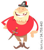 Cartoon Illustration of Funny Pirate Fantasy Character. Стоковое фото, фотограф Zoonar.com/Igor Zakowski / easy Fotostock / Фотобанк Лори