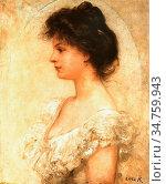Lotz Károly - Portrait of Kornélia Lotz 2 - Hungarian School - 19th... Стоковое фото, фотограф Artepics / age Fotostock / Фотобанк Лори