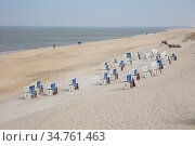 Leere Strandkoerbe an der Kueste, Sylt, Nordfriesische Insel, Nordfriesland... Стоковое фото, фотограф Zoonar.com/Wirth / easy Fotostock / Фотобанк Лори