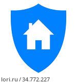 Haus und Schild - Home and shield. Стоковое фото, фотограф Zoonar.com/Robert Biedermann / easy Fotostock / Фотобанк Лори