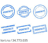 Perfect Stempel - Perfect stamps. Стоковое фото, фотограф Zoonar.com/Robert Biedermann / easy Fotostock / Фотобанк Лори