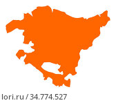 Karte von Baskenland - Map of Basque Country. Стоковое фото, фотограф Zoonar.com/Robert Biedermann / easy Fotostock / Фотобанк Лори